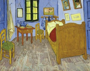 Van Gogh's bedroom in Arles, 1889, oil on canvas, 57.5 x 74 cm. Version preserved in the Musee d'Orsay in Paris.